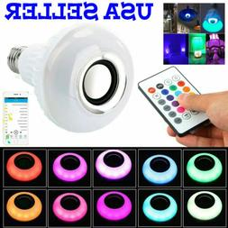 Bulb Speaker Bluetooth LED Light Music RGB Color Wireless E2