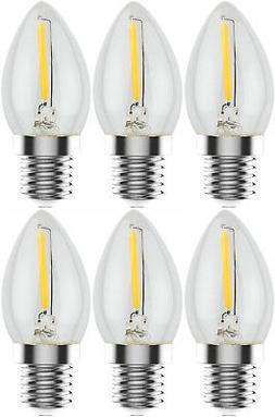 Urbanest C7 E12 LED Filament Edison-style Light Bulb, 1 Watt
