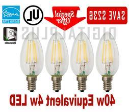 40W Replacement LED Light Bulb 40W Equivalent C12 E12 4 Watt