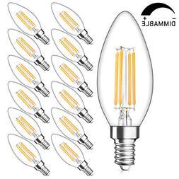 SHINE HAI Candelabra LED Filament Bulbs Dimmable 40W Equival