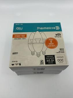 Ecosmart 4.5 watt LED Candlabra Dimmable bulb  3 -pack