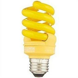 TCP CFL 60W Equivalent, Yellow Spiral Bug Light Bulb New