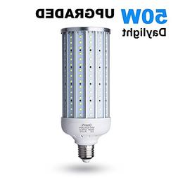 50 Watt LED Corn Lamp,5000 Lumen 6500K,Daylight White LED St