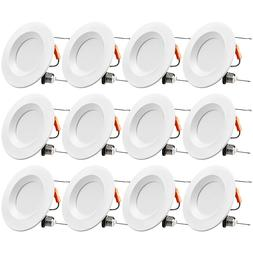 """TORCHSTAR Dimmable 15W 6"""" Recessed LED Ceiling Downlight, 27"""