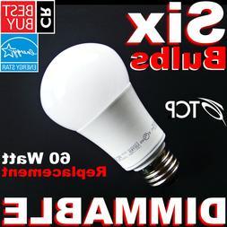 ▶DIMMABLE◀ 60W Soft White 2700K LED 9.5W = 60 Watt A19 D