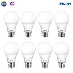 Philips LED Dimmable A19 Frosted Light Bulb: 800-Lumen, 2700