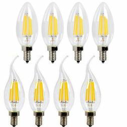 Dimmable E12  LED Filament Candelabra Light Bulb Chandelier