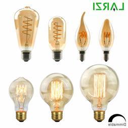 LARZI Dimmable Edison Lamp 4W 40W 220V Retro Vintage <font><