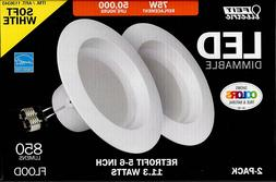 NEW FEIT ELECTRIC LED DIMMABLE RETROFIT 5-6 INCH 2-PACK 2700