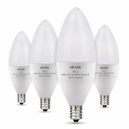 Albrillo E12 LED Candelabra Bulbs 5W for Chandelier Light, 4