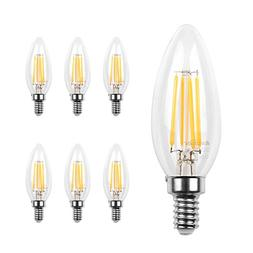 Ascher E12 LED Classic Candelabra Clear Light Bulb / 4W, Equ