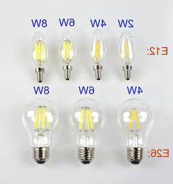 E12 E26 110V 2W 4W 6W 8W Retro Vintage Filament LED Candelab