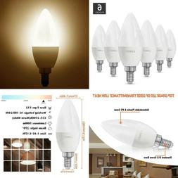 Lunsy E12 Led Candelabra Bulb 60 Watt Equivalent 500 Lumens