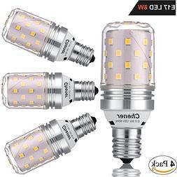 E17 Intermediate Base LED Bulb,8W,Soft White 3000K,Non-dimma