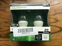 TCP E26 Clear Deco Dimmable 4 Watts LED Bulbs 2-Pack 25 Watt