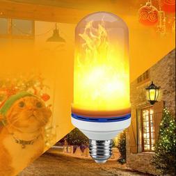 E26 LED Burning Flicker Flame Effect Fire Light Bulb Home Ro