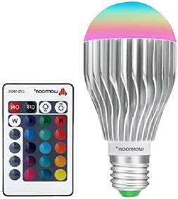 Warmoon E26 LED Light Bulbs, 10W RGB Color Changing Dimmable