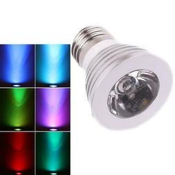 E27 3W 16 Color Changing LED RGB Magic SpotLight Bulb Remote