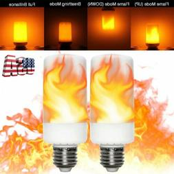 E27 99 LED Flicker Flame Light Bulb Simulated Burning Fire E
