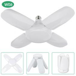 E27 Deformable LED Garage Light Bulb Ceiling Fixture 60W Hom