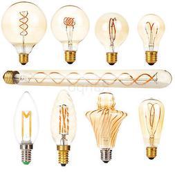 E27 E14 LED Light Bulb Lamp Vintage Retro Filament Edison An
