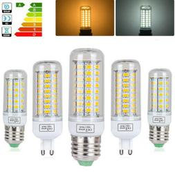 E27 G9 LED Corn Bulb 6W 15W 20W Light 5730 SMD Lamp Warm Whi