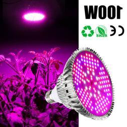 100W E27 LED Grow Light Bulb Full Spectrum for Flower Bloom