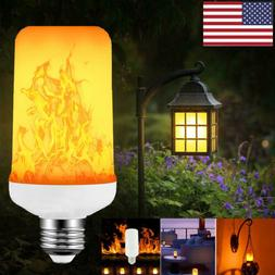 E27 LED Burning Flicker Flame Light Lamps Candle Fire Effect
