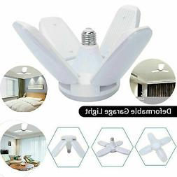 E27 LED Garage Light Bulb Foldable Ceiling Fixture Shop Base