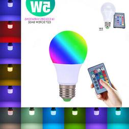 E27 LED Light Bulb Lamp 5W RGB Magic 16 Multi Color With IR