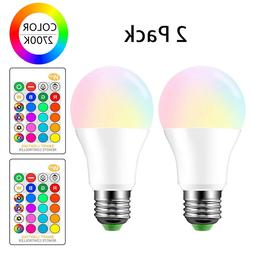 E27 RGB LED Lamp 3W 16 Colors Changing Magic Night Light Bul