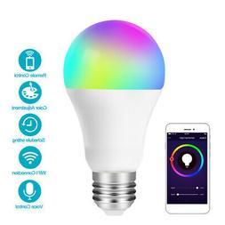 E27 RGB White Wifi LED Light Bulb Remote Voice Control Lamp