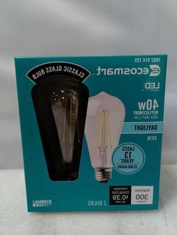 EcoSmart 40-Watt  ST19 Dimmable Clear Filament Vintage  LED