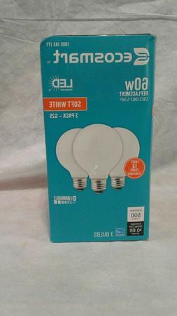 EcoSmart LED Light Bulb Soft White 40Watt Equivalent G25 Glo