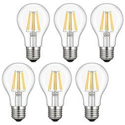 LED Edison Bulb, Kohree 6W Vintage LED Filament Light Bulb,