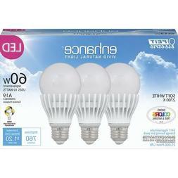 Feit Electric Enhance LED Light Bulbs 3 Pack 60 Watt Equival