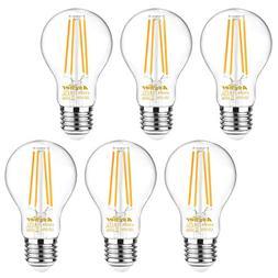 Ascher 60 Watt Equivalent, E26 LED Filament Light Bulbs, War