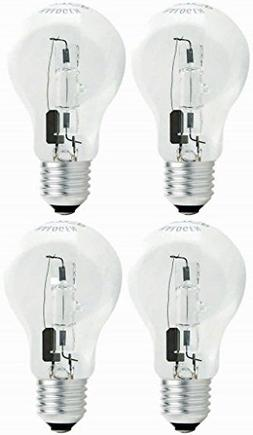 TCP 100W Equivalent, Value Clear Halogen A19 Light Bulbs, Di