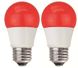 TCP 40W Equivalent, Red LED A15 Regular Shaped Light Bulbs,