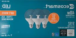 EcoSmart 40W Equivalent Clear Soft White Dimmable G25 Globe