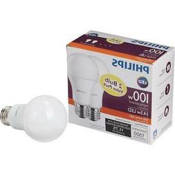 Philips 100W Equivalent Soft White A19 LED Light Bulb