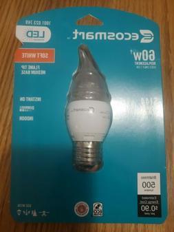 EcoSmart 60W Equivalent Soft White  B10 Medium Base LED Ligh