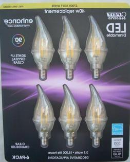 NEW 6 Feit LED E12 Soft White Candelabra Chandelier Light Bu