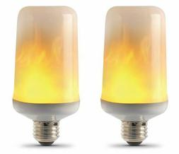 Feit Electric Flame Light Bulb 2 Pack LED Flame Effect 3W Me