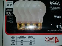 100 w traditional incandescent light bulbs Halco A19 frost 4