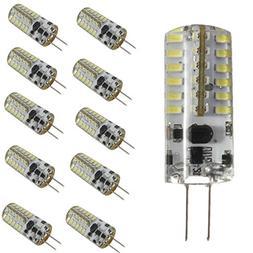 KINGSO G4 LED Bulb 10 Pack 3W Bi-Pin LED Light Bulb 48×3014