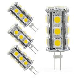 Reelco 4-Pack G4 Bi-pin Base LED Light Bulb 4W AC DC 12V War