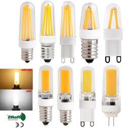 G4 G9 E12 E14 Dimmable LED Corn Bulb Silicone Crystal COB Fi