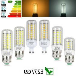 G9 E27 LED Corn Bulb 3W 9W 15W Light 5730 SMD Lamp Warm Whit