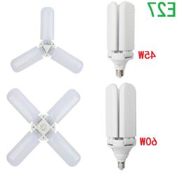 Garage LED Foldable Fan Blade Adjustable Angle Lamp Indoor C